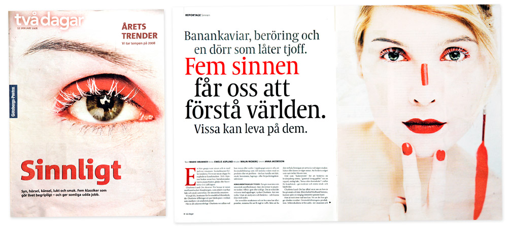 Makeup work for the gothenburg Post makeup by Anna Leidy Jacobsson